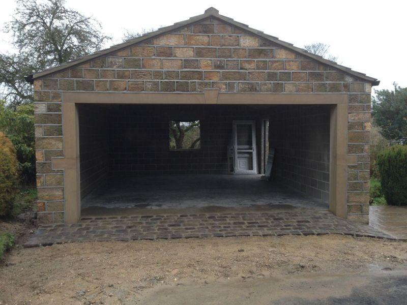 Stone garage steeton for Stone garage designs
